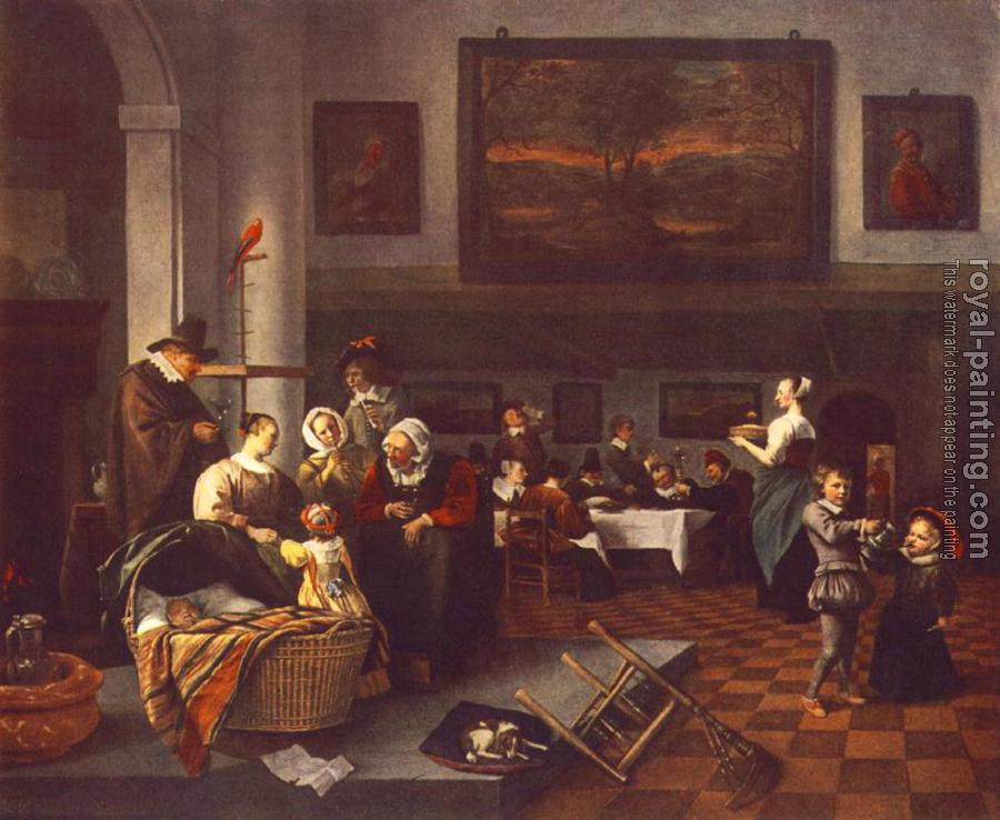 Jan Steen : The Christening